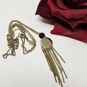 "Loft Modern Gold Tassel Necklace 36"" long"